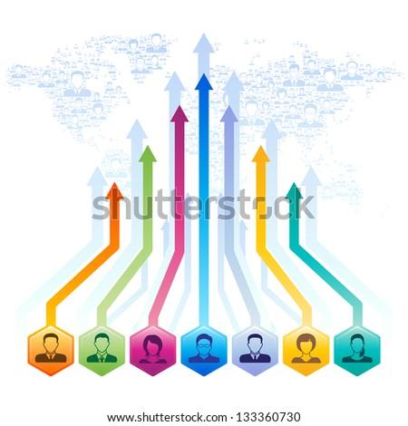 Social media concept,vector illustration. - stock vector