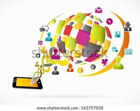 Social media concept vector illustration - stock vector