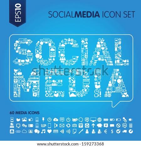 social media concept vector image - stock vector