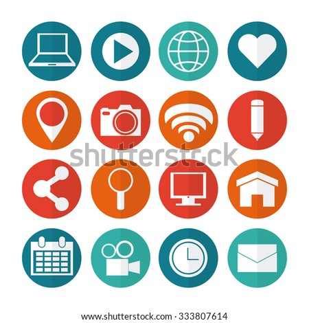 Social Media concept with online icons design, vector illustration 10 eps graphic.
