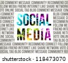 Social Media. Decorative background. - stock vector