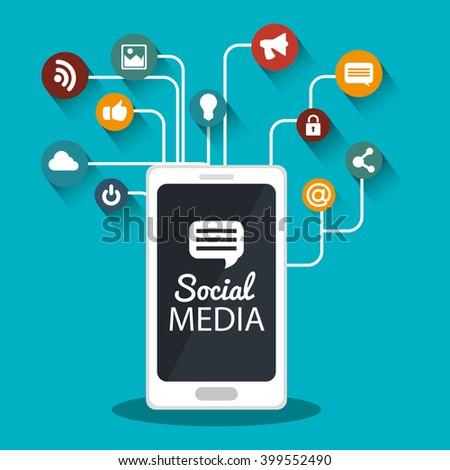 social media design  - stock vector