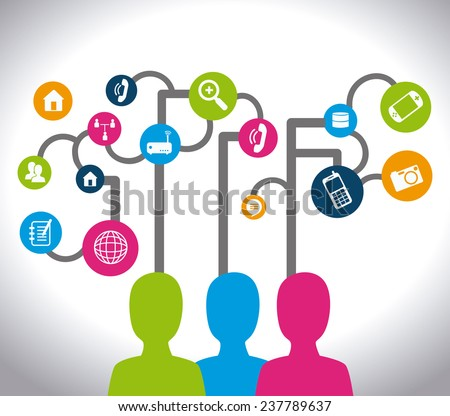 Social media design over white background,vector illustration.