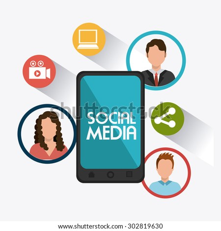 Social media design, vector illustration eps 10. - stock vector