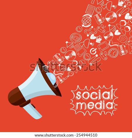 social media design, vector illustration eps10 graphic  - stock vector