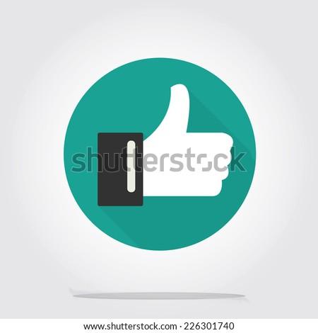 Social media flat vector icon - stock vector