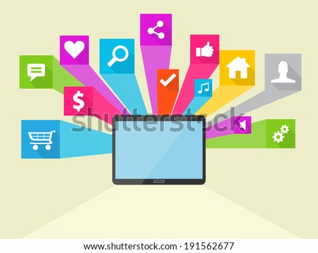 Social Media Flat Vector Icon Design Illustration