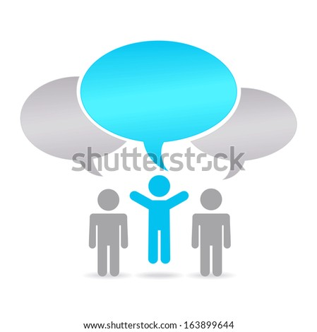 Social media -good idea  - stock vector