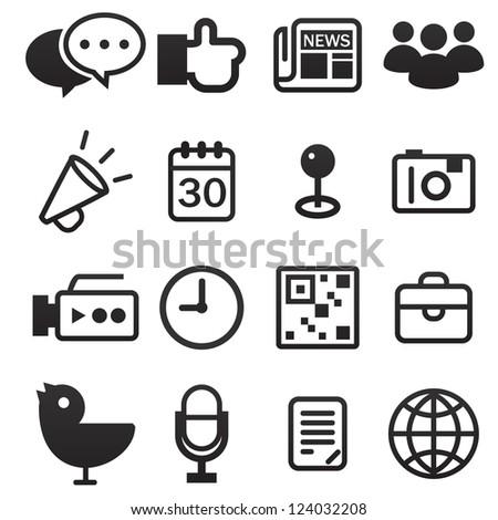 Social Media Icon - stock vector