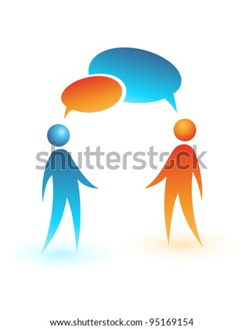Social media icon. Concept vector people. Business chat. - stock vector