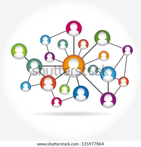 social media icon group element vector - stock vector