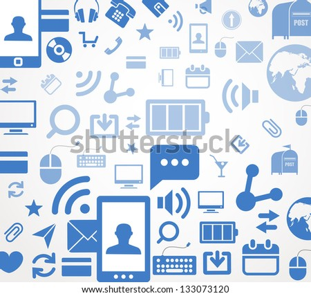 Social media icons abstract background