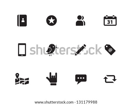Social Media icons on white background. Vector illustration. - stock vector