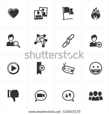 Social Media Icons - Set 2 - stock vector