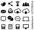 Social Media Icons - Set of social media icons isolated on a white background.  Eps8. - stock photo