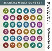 Social media icons vector - stock