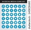 Social media icons vector - stock vector