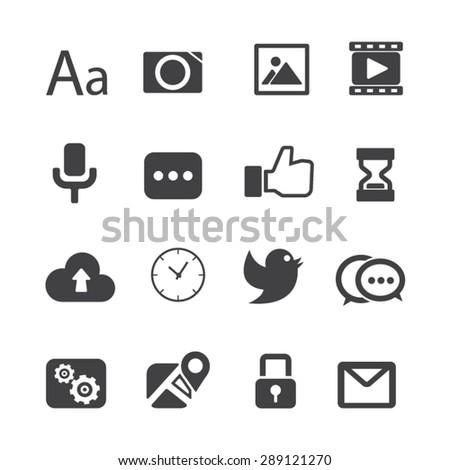 Social Media icons,Vector - stock vector