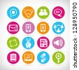 social media icons, web application set, button set - stock photo