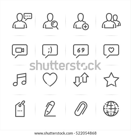 Social Media icons with White Background
