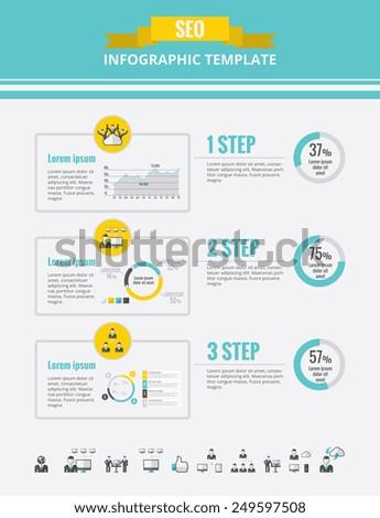 Social Media Infographic Elements. - stock vector