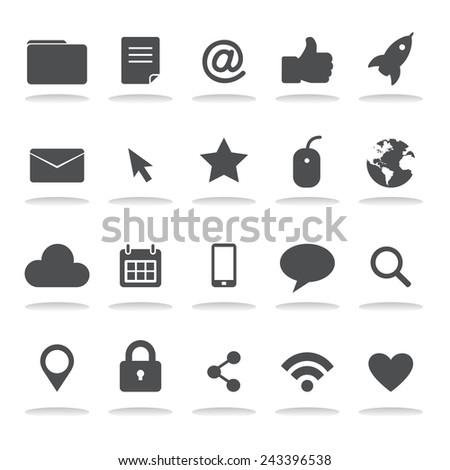 Social Media Internet Online Computer Icons Symbol Vector - stock vector