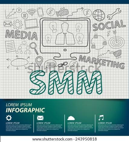 Social Media Marketing concept vector Illustration - stock vector