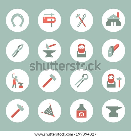 Social media mobile  press center reporter symbols emblems design pictograms collection isolated icons set flat vector illustration