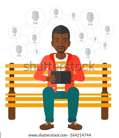 Social media network. - stock vector