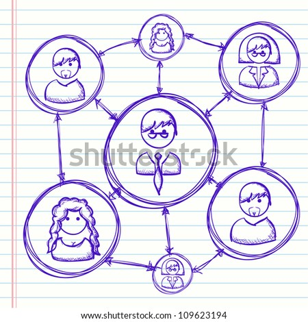 Social media  network connection - stock vector