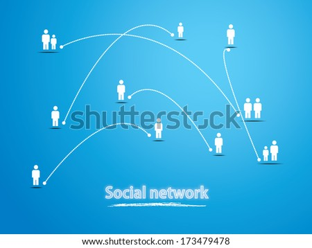 Social Media Network Illustration, Vector, Icon - stock vector