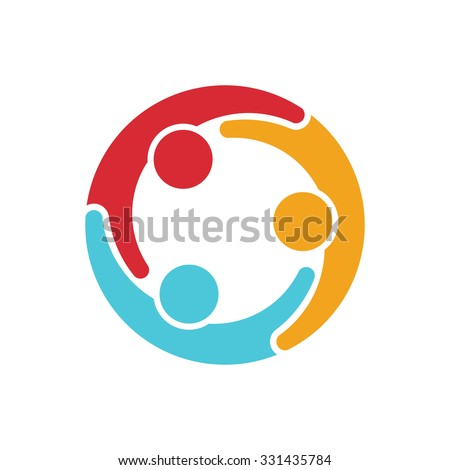 Social media network people logo - stock vector