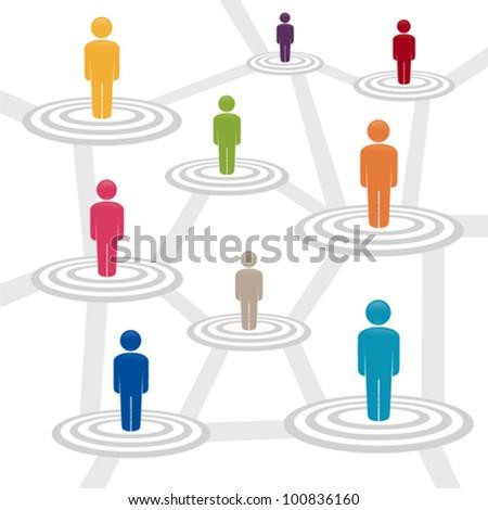 Social media network, vector illustration - stock vector