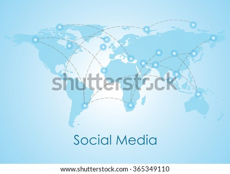 Social media people communication on the world, Social Networking People Conceptual, vector illustration. - stock vector