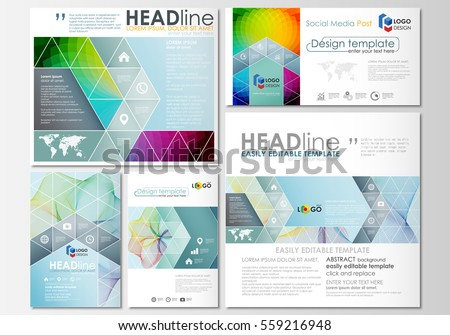 social media brochure template - vector brochure flyer magazine cover booklet stock vector