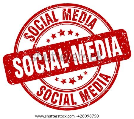 social media red grunge round vintage rubber stamp.social media stamp.social media round stamp.social media grunge stamp.social media.social media vintage stamp. - stock vector