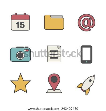 Social Media User Interface Icon Symbol Vector Concept - stock vector