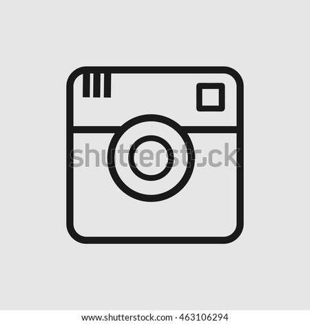 Social media vector icon. Simple isolated symbol EPS 10. Pictogram outline on grey background.