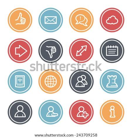 Social media web icons - stock vector