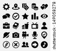 Social net icons set - stock vector