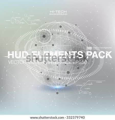 Social network. Blurry soft creative vector. Vector illustration global social media concept. Abstract background with connecting dots and lines. Molecule structure. genetic and chemical compounds. - stock vector