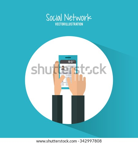 Social Network concept and successful icons design, vector illustration 10 eps graphic.