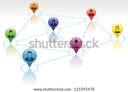 Social Network Connections - stock vector