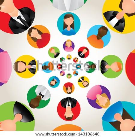 social network design over white background vector illustration - stock vector