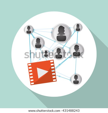 Social network design. Social media icon. Isolated illustration