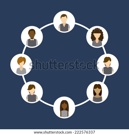 social network graphic design , vector illustration
