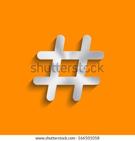 Social network hashtag icon. Vector design - stock vector