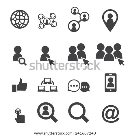 social network icon - stock vector
