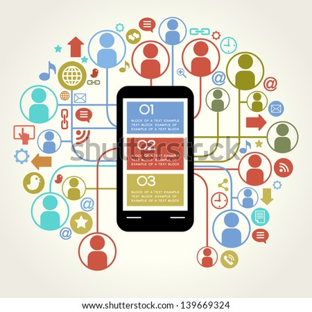 social network telephone. communication in the global computer networks.communication in the global telephone network - stock vector