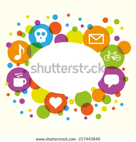 Social network vector internet chat community communication  - stock vector